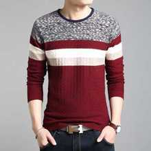 2014 New Spring Men'S Thick Slim Sweater Male O-Neck Floral Print Casual Pullover Sweater Plus Size Stitching Sweater H2022