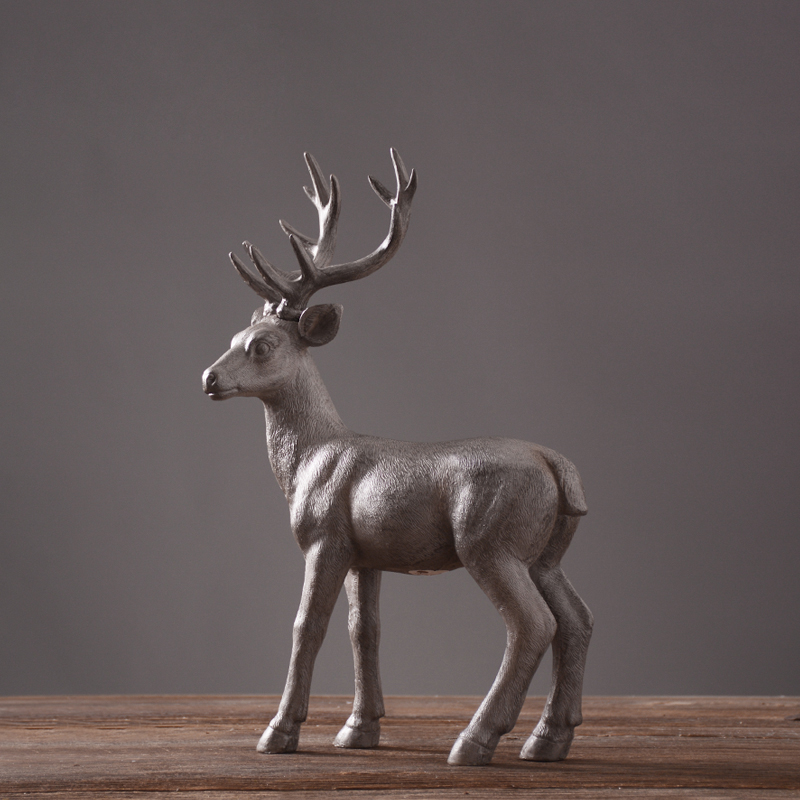 retro resin elk American village style home furnishing dcor craft Nordic vintage hand made Bionic deer luxury home ornament