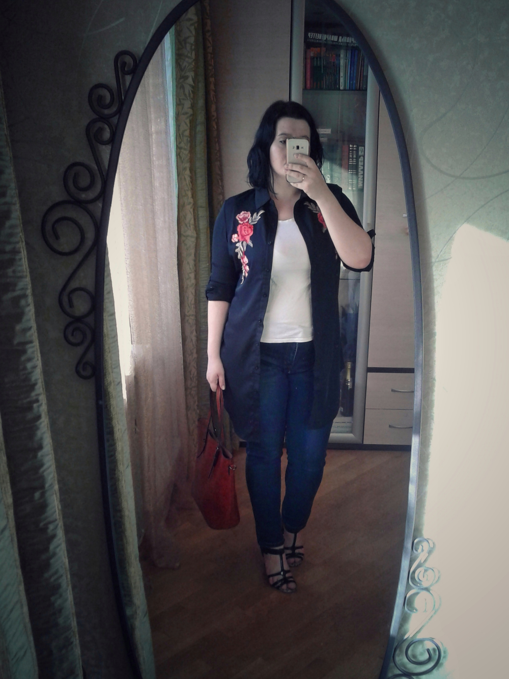Блуза с вышивкой размера PlusSize с Алиэкспресс