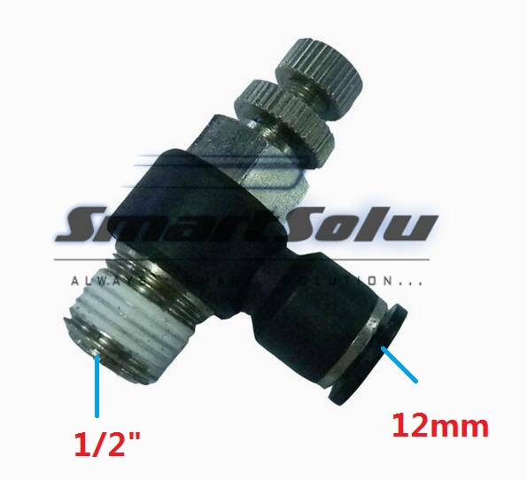 Free Shipping10pcs/lot SL12-04 Pneumatic Throttle Valve,Quick Push In 12MM Tube 1/2Inch Air Fitting Flow Controller 5pcs lot sspmm stainless steel anticorrosion food grade quick connect air tube accessories bulkhead union fitting sanmin