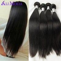 4 bundles 6A grade Malaysian Virgin Hair Straight Human Hair Weaves Rosa hair products malaysian straight hair Natural black