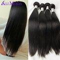 Malaio Virgem Do Cabelo 4 pacotes de cabelo reto malaio 7A grau Malásia Virgin Cabelo Humano Em Linha Reta Tece Cabelo Ali Moda