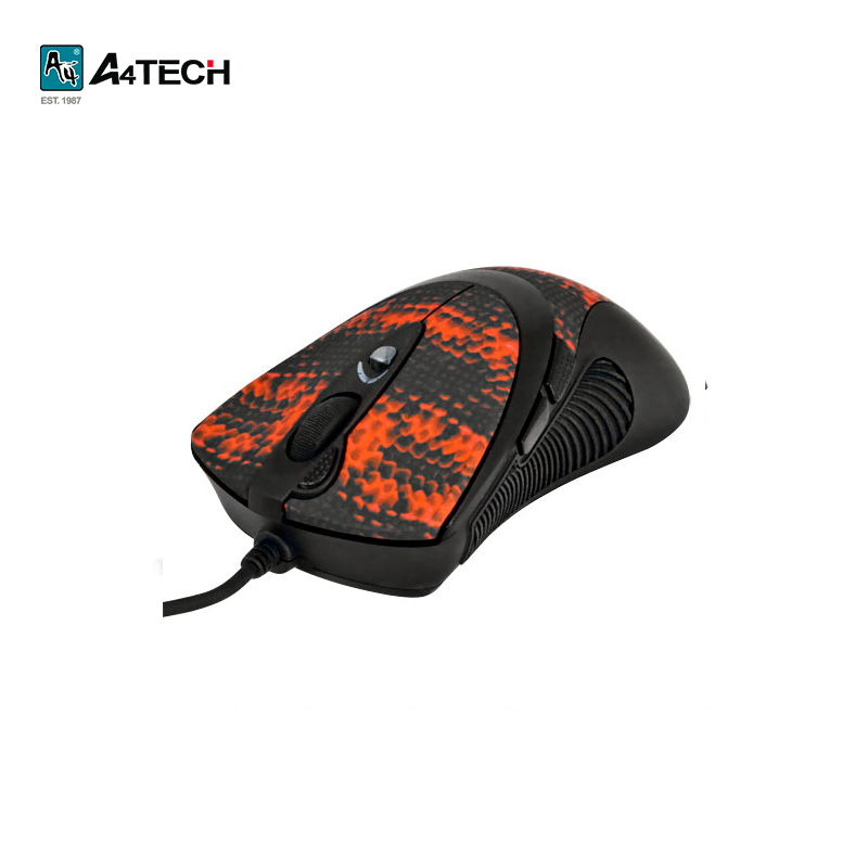 Mouse gaming mouse A4Tech XL-740K Officeacc qisan x1 wired usb gaming led 800 1600 2000dpi gaming mouse black
