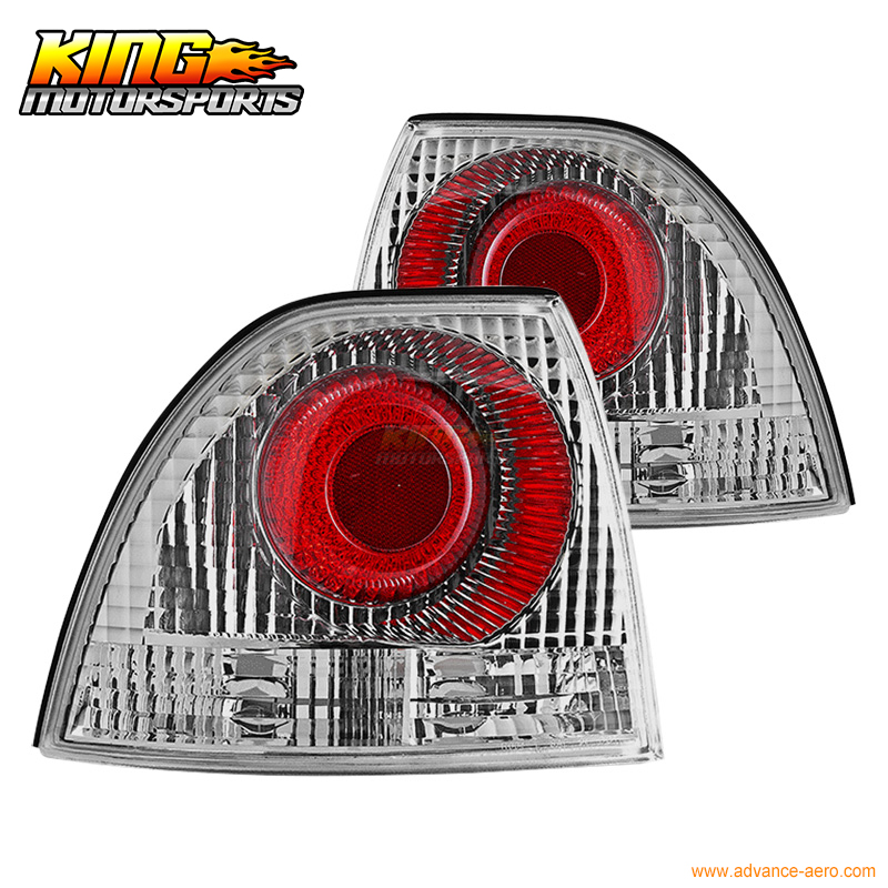 For 1994-1995 Honda Accord 2 4Dr Altezza Brake Tail Lights Lamps Chrome Clear USA Domestic Free Shipping