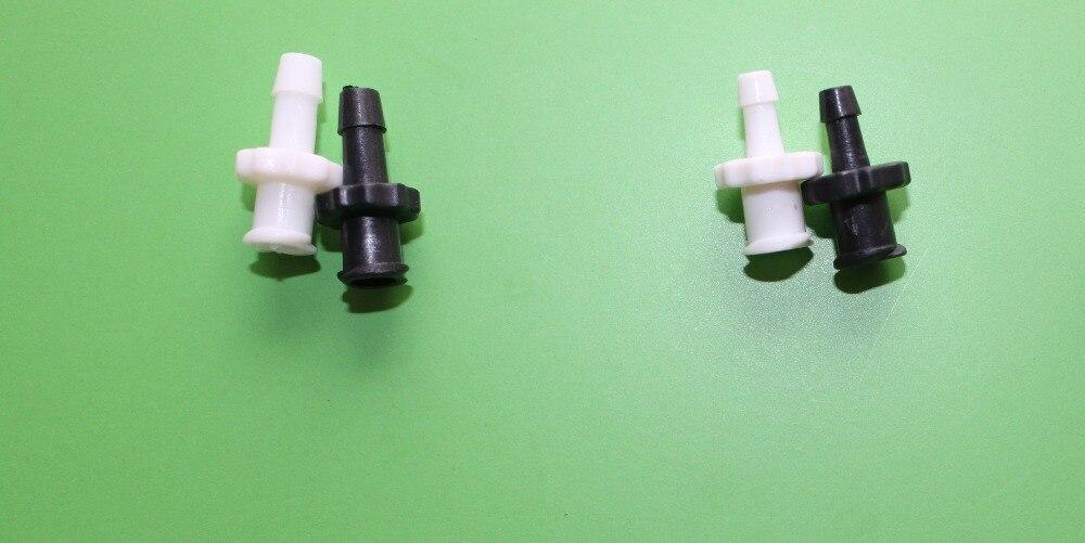 Parte máquinas de impressão tubo conectores fai4 Extrapolação fora do fio 5 pcs preto