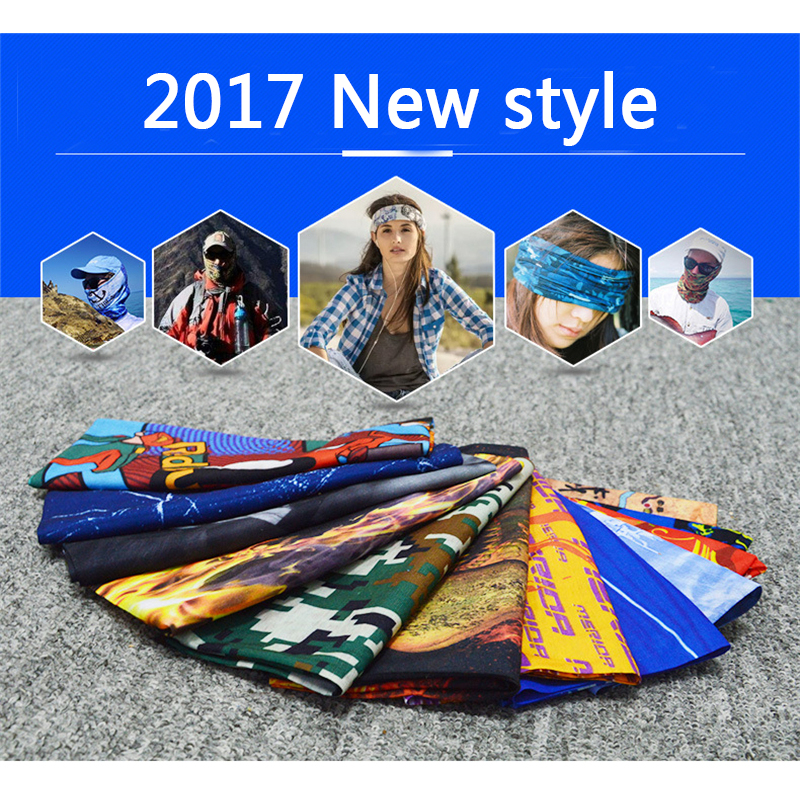 Woman And Man Head Bands Outside Sport Seamless Scarf Veil Motorcycle Cool Headband Skull Bandanas Multi-function Hat