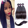 7A Unprocessed Brazilian Virgin Hair Straight With Closure Natural Black Unprocessed Virgin Brazillian Straight Hair & Brazilian