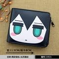 Anime BLACK ROCK SHOOTER PU Short Wallet with zipper printed w-Kuroi Mato Type B
