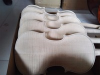 Unfinshed Flamed Maple Flamed Wood Back White 4 4 Violin Europen Wood Spruce Top Wood