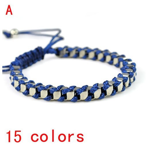 Fashionable Wax Rope Handmade Wred Woven Friendship Bracelet Br 1363