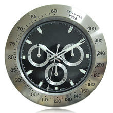 Luxurious Branded Wall Clock Classic Watch Design Silent Non Tick 3 Subdials With Corresponding Logo
