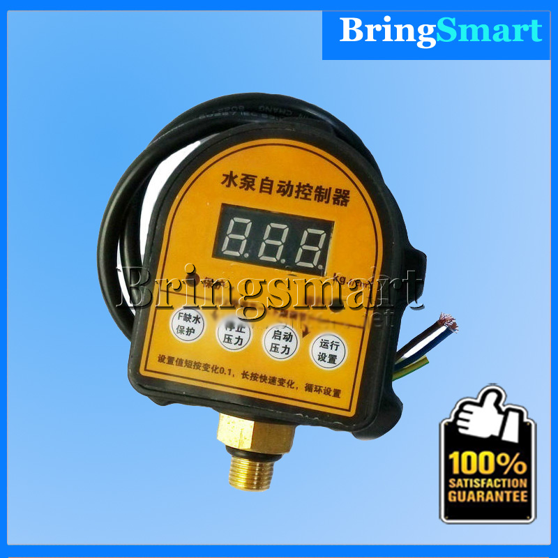 1/4'' 3/8'' Pumps Water Protection Digital Display Pressure Switch Intelligent Electronic Pressure Switch Controller
