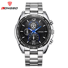 LONGBO Business Sport Watch Mens Watches Top Brand Luxury Stainless Steel Casual Quartz Wrist Watch Men Relogio Masculino 8834