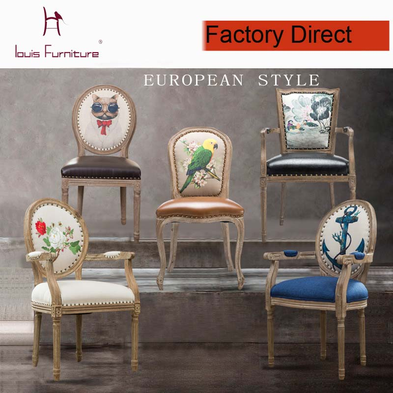The NEW French Modern Leisure Dining Chair Exquisite Workmanship Armchair  Elegant Stool Kitchen Furniture Popular Dining Room