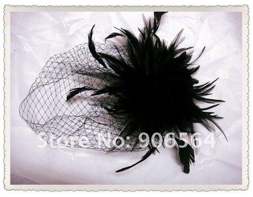 Винтажные головные уборы с перьями kentucky, вечерние головные уборы, покрытые плащами, женские свадебные украшения для волос оптом, 6 шт./партия