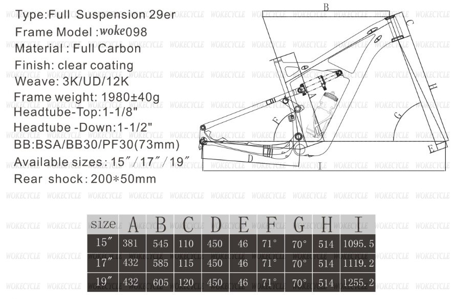 High Quality Light Carbon 29er Toray full suspension carbon mountain ...