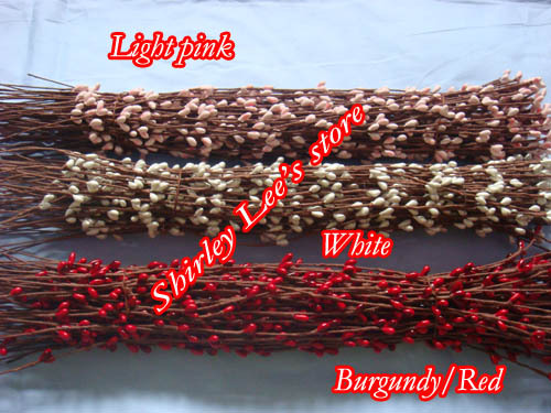 Hot Sale!!(400pcs/lot)  XHigh  Quality Rich Colored PIP BERRY STEM FOR DIY  WREATH ,Floral Fillers,15 colors . *FREE SHIPPING *