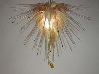 עיצוב הבית עכשווי יד זכוכית מנופחת LED תקרת תאורה