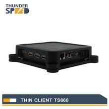 Lo nuevo arm11 estación de thin client net computer pc ts660 win ce 6.0 os embedded server soporte winows 7/vista/linux/xp