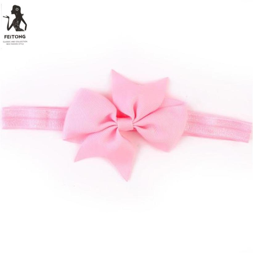 Feitong Kids Accessories for Girls Elastic Multicolor 15 Colors Headbands Bow Hairband Photography Props accessoire cheveu