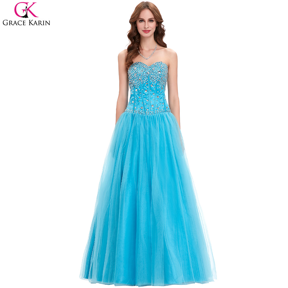 blue bridesmaid dresses 2017 grace karin tulle sequin elegant long formal gowns robe demoiselle. Black Bedroom Furniture Sets. Home Design Ideas