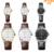 Nova Eyki Amantes Tabelas Casal À Prova D' Água Relógio Analógico Voga Exibição Numeral Romano Pulseira de Couro Das Mulheres Dos Homens Relógios de Quartzo Montre