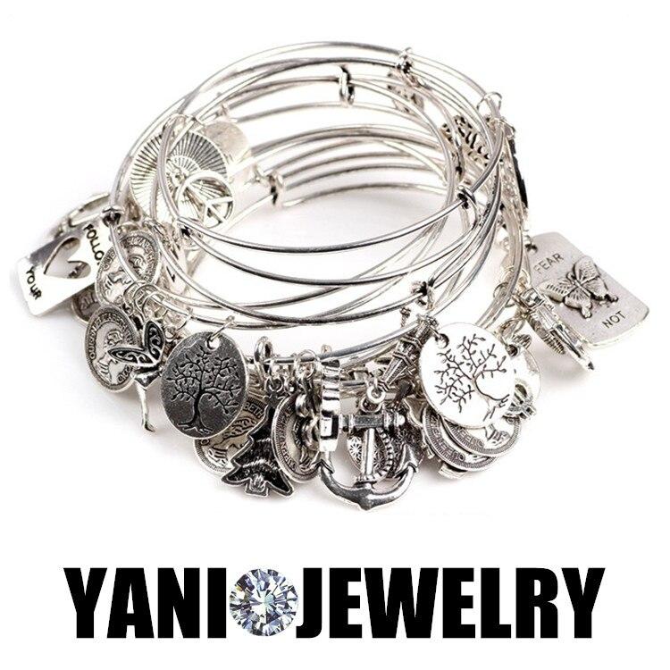 50PCS!! Wholesale Price Expandable Vintage Silver Wire Bracelets ...