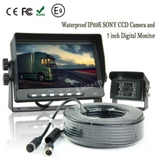 Car Rearview Reverse System with Sony CCD Camera Digital Monitor for Truck Trailer Tractor Heavy Duty Vehicle
