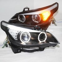 2004 2009 Year For E60 523i 525i 530i Angel Eyes Head Lights Head lamp For BMW original car without HID kit SN