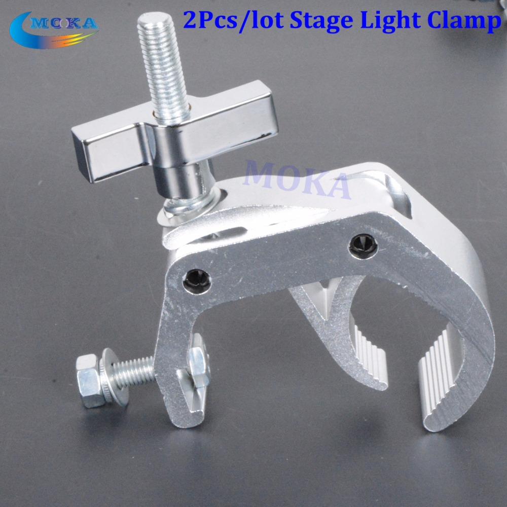 2Pcs/lot Moving head beam light clamp Stage Truss clamp Fixture Truss Snap Hook Double Strong Bracelet light equipment Accessory 5pcs lot high quality 2 pin snap in on off position snap boat button switch 12v 110v 250v t1405 p0 5