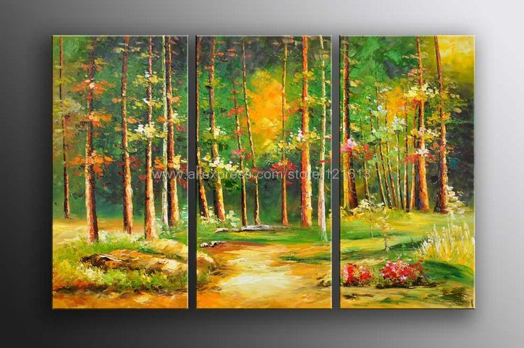 Hot Sale Huge Trees Forest Landscape Art Oil Painting Gallery On ...