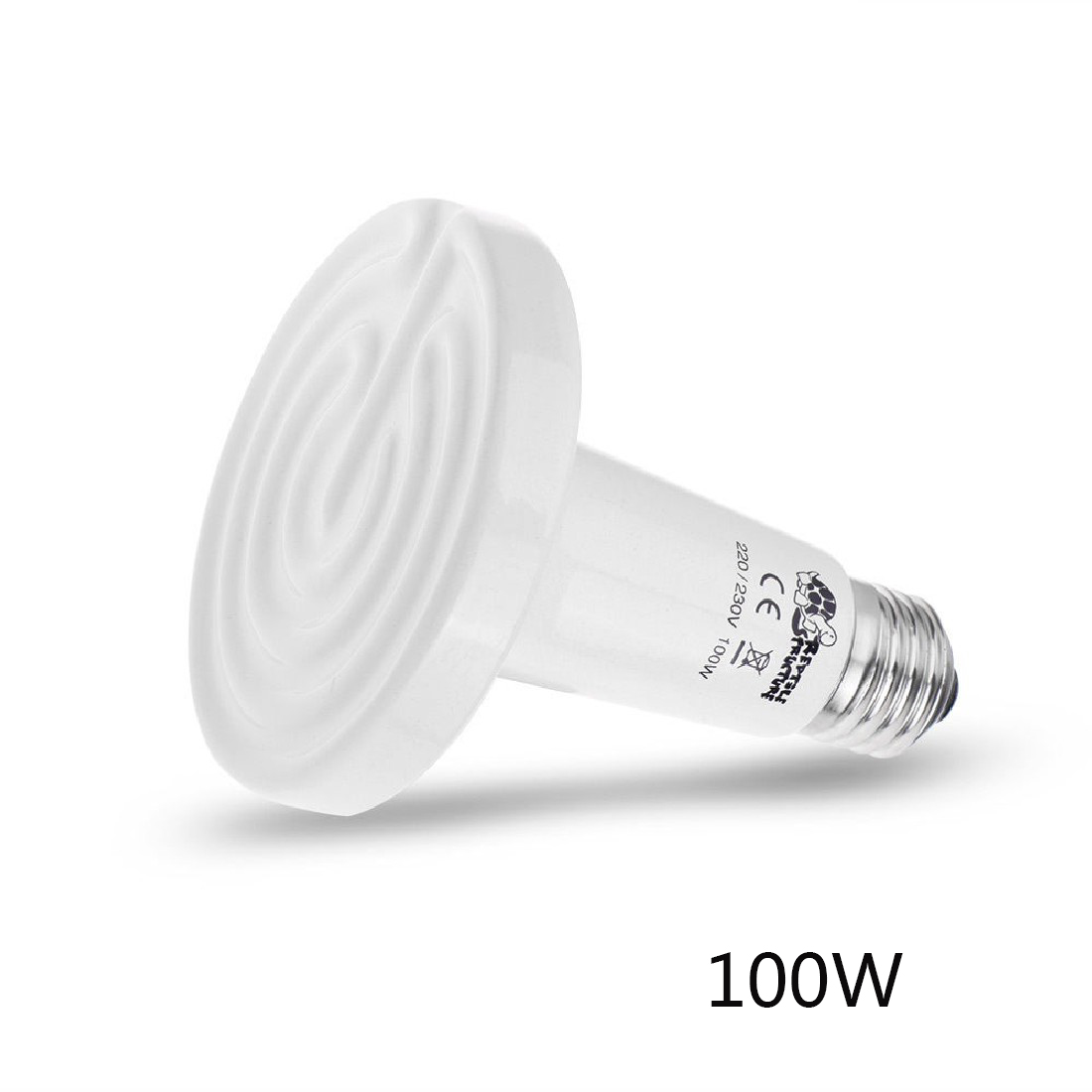 New Brand 100W Ceramic Emitter Heat Lamp Reptile Heater White High Quality