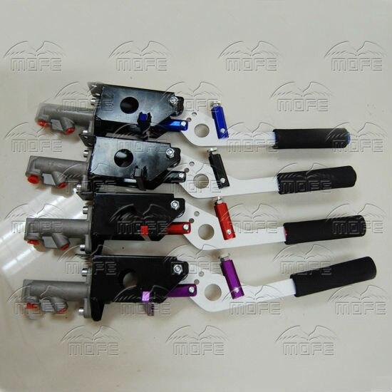 Universal Aluminum Master Cylinder 0.7 Inch Vertical Horizontal Racing Drift Rally Hydraulic Handbrake Hand Brake Purple Red Black Blue hydraulic hand brake  (3)