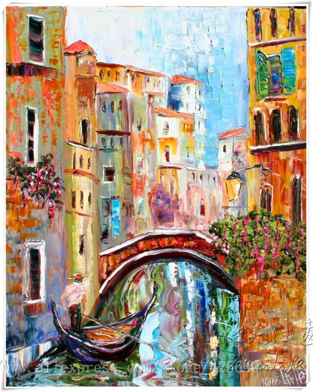Venise peinture à l'huile paysage italien