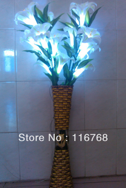 Novelty Gifts 4pcsctn Table Lamp Decoration Colla Lilly Led Vase