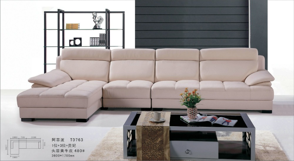 US $1500.0 |off white leather sofa 0411 AL763-in Living Room Sofas from  Furniture on Aliexpress.com | Alibaba Group