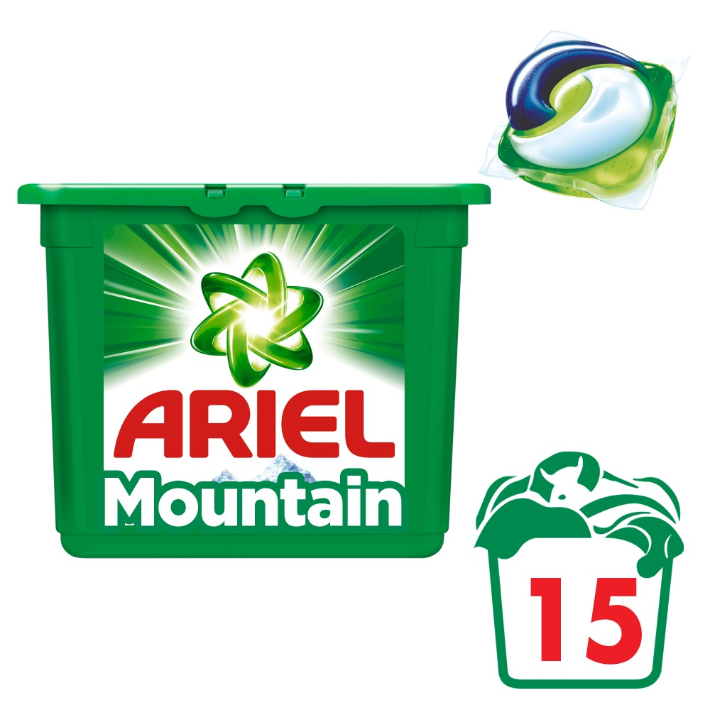 Washing Powder Capsules Ariel Capsules 3in1 Mountain Spring (15 Tablets) Laundry Powder For Washing Machine Laundry Detergent jiqi 3l portable single barrel washing machine semi automatic mini top loading open washing device large capacity children home