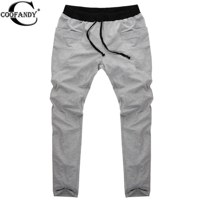 COOFANDY Sweatpants Calças Dos Homens Harem Pants Calças Homens de Design de Bolso Grande Homem Corredores De Carga Solta Algodão TrousersS-XXL