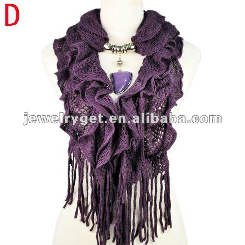 New design!women winter warm waved shaped pendant jewelry scarf  NL-1932 (9).jpg