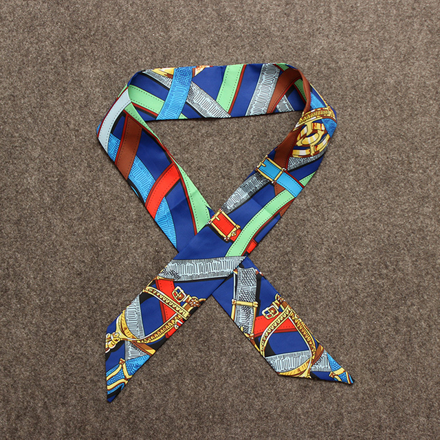 Contrast Stripe Skinny Scarf | Neck Scarves | Up to 60% Off Now