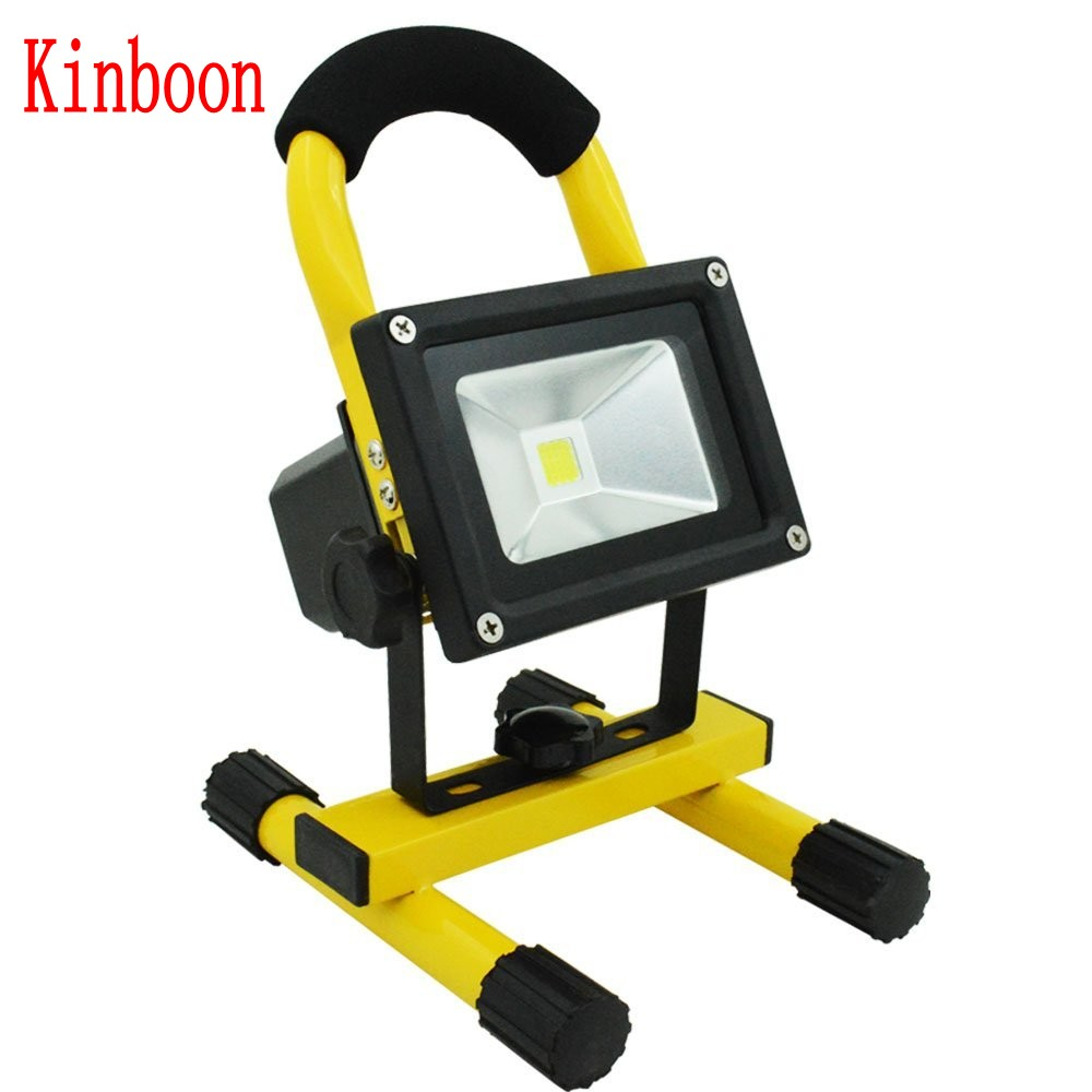 цена на 10W Floodlight Rechargeable LED Flood Light Lamp portable Outdoor Spotlight Camping Work Light with DC Car Charger