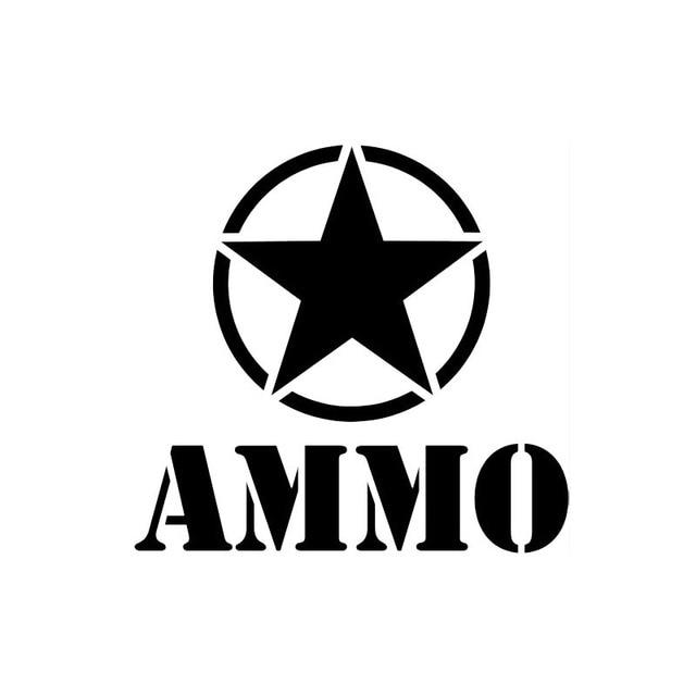 15cm14cm Car Styling Ammo Star Car Stickers Decals Fashion