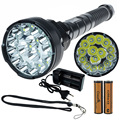 CrazyFire LED Flashlight 18000 Lumens 15xCREE XML T6 Lantern Torch With 2x Rechargeable 4200mah 18650 Battery+ Battery Charger