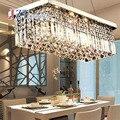 T Simples Moda de Luxo Criativo Retangular Lustre De Cristal Moderna LEVOU Pingente Lâmpadas Para Sala de Jantar sala de Estar quarto