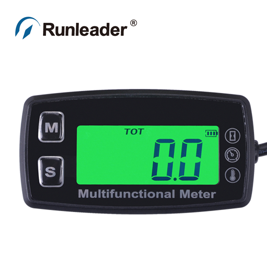 Digital LCD RL-TS001 PT100 -20- +300 Celsius degree tach hour meter theomometer temp meter for gas engine motorcycle marine