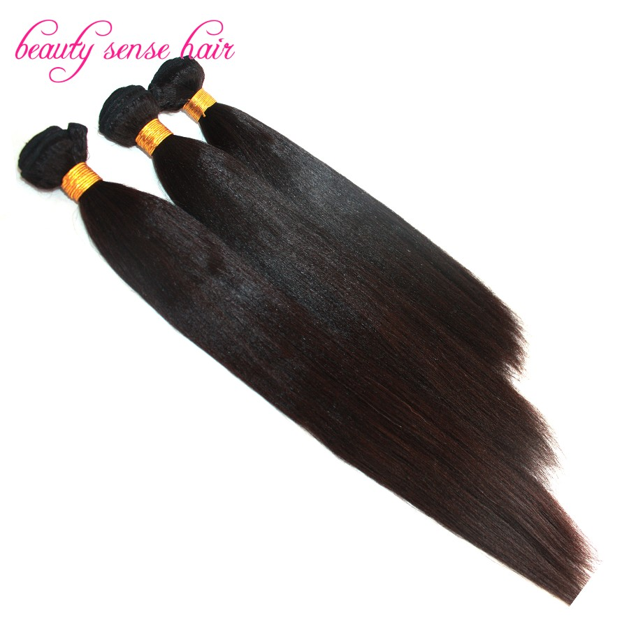 Natural color human hair Extensions 100g/pc 3pcs/lot 100% virgin Malaysian hair Light Yaki straight hair Weaving In stock от Aliexpress INT