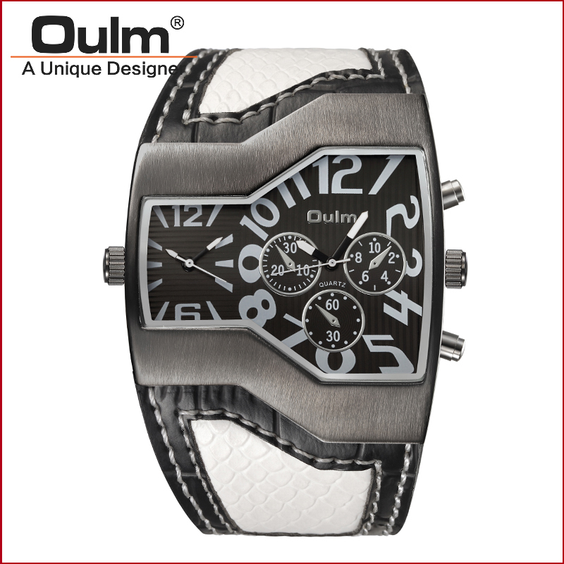 fashion origin design watch sport style alloy case leatheroid belt 2 - Men's Watches