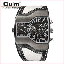 мода происхождения дизайн часы спортивный стиль сплава случае leatheroid ремень 2 часовой пояс кварцевые часы для мужчин