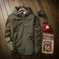 Куртка Мужчины 2016 Новый Сплошной Цвет Куртка мужская Капюшоном Спортивная Куртка Мода Пуловер Ветровка Мужчин Пиджаки Moleton Masculino