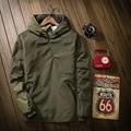 Jacket Men 2016 New Solid Color Jacket Men's Hooded Sportswear Jacket Fashion Pullover Windbreaker Men Outwear Moleton Masculino